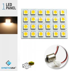 T10/1156 5050 LED Panel Super Bright 24-SMD Warm White LED Bulbs