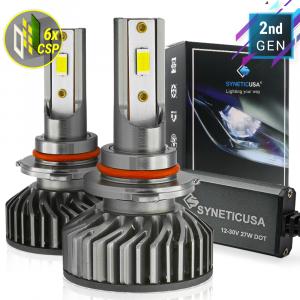 9005 HB3 CSP LED Headlight 6000K White Light Bulb Kit High Beam 100W