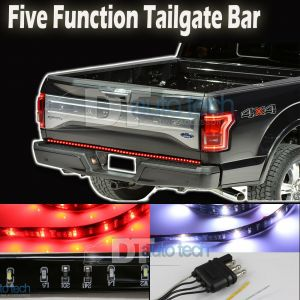 "49"" High Power 5-Function LED Strip Tailgate Bar Brake Signal Light Truck SUV"