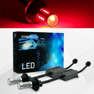 1157 LED Error Free Canbus All in One Red Brake Tail Light/Parking Bulbs Set