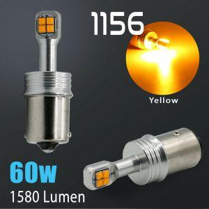1156 CREE 1600LM Amber Yellow Turn Signal Blinker Indicator LED Light Bulbs