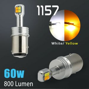 White/Amber 1157 Cree LED DRL Switchback Turn Signal Parking Light Bulbs Dual