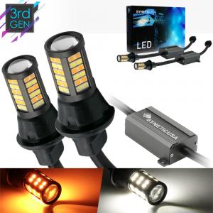 Error Free 3157 Standard/SRCK Socket White/Amber Type 1 Switchback LED Light Bulbs