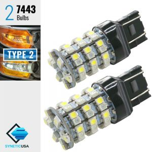 7443/7440 60-SMD Dual Color Type 2 Switchback LED Bulbs