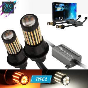 Error Free White Amber 3157 Standard/CK Type 2 Switchback 120-LED Light Bulbs