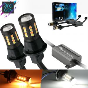 Error Free 1157 Type 1 Switchback High Power 3030 LED Light Bulbs White/Amber