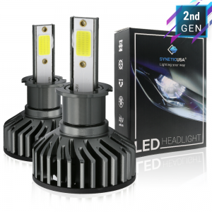 H3 CREE LED COB Fog Light Kit Bulbs 6000K White High Power 5000lm Lamp