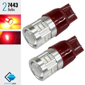 2X 7443/7440 40W Red LED Rear Brake Tail Stop Parking Hi Power Tail Light Bulbs
