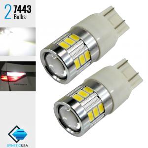 40W 7443 T20 LED 6000K White Reverse Brake Tail Stop High Power Light Bulbs