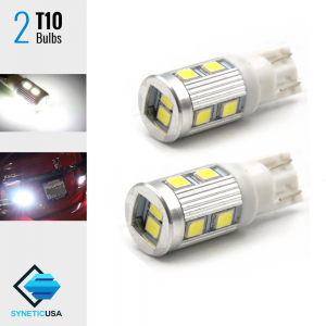 2X High Power 2835 Chip LED T10 921 Interior Light Bulbs 6000K Xenon White