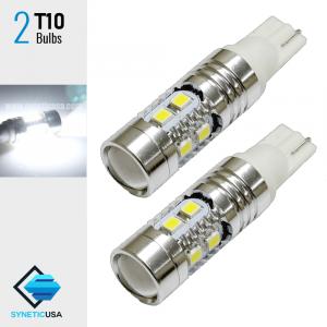 Xenon White 2835 T10/194 10-SMD Wedge Base bulb