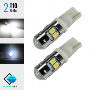 2X 35 Watts High Power Chip LED T10 White Backup Reverse Light Bulbs Projector