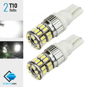 2X T10 168 High Power 3014 Chip LED White LED Backup Reverse LED Light Bulbs