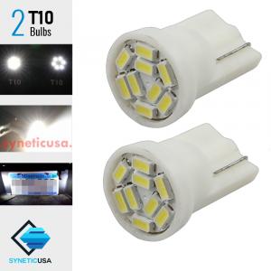 High Power 3014 Xenon White T10/194 Wedge Base bulb