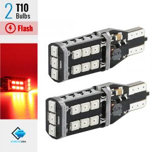 T10/192 Flash Strobe Red LED High Mount Stop 3RD Brake Light Bulbs