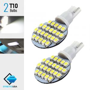 T10 3528 Super Bright 24-SMD Xenon White LED bulbs