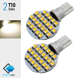 T10 3528 Super Bright 24-SMD Warm White RV Interior LED Light bulbs