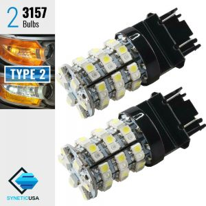 3157 60-SMD Dual Color Type 2 Switchback LED Bulbs