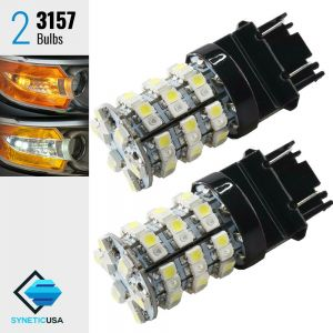 3157 60-SMD Dual Color Type 1 Switchback LED Bulbs