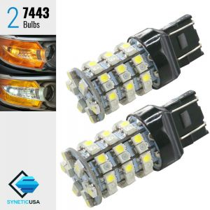 7443 60-SMD Dual Color Type 1 Switchback LED Bulbs