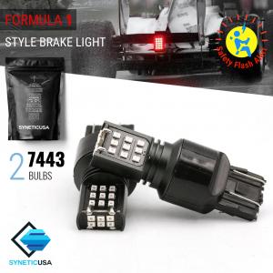7443 2016-Chip 24-LED Flash Strobe Red LED bulbs
