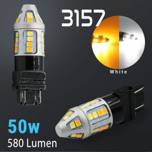 3157/3156 Super Bright 30-SMD Dual Color Switchback LED Bulbs