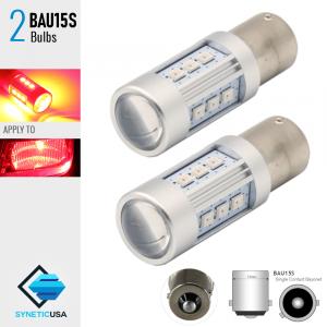 2X BAU15S 60W High Power Chip RED SMD LED Turn Signal Brake Tail Light Bulbs