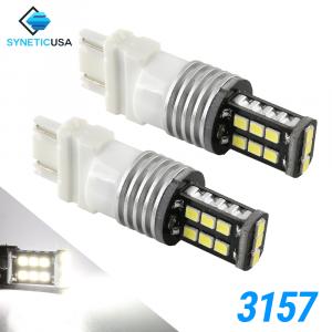 3157 1400 Lumen Extreme High Power Xenon White 6000K LED bulbs