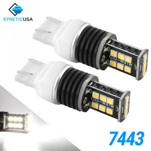 7443 1400 Lumen Extreme High Power Xenon White 6000K LED bulbs