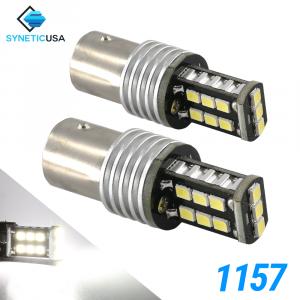 1157 1400 Lumen Extreme High Power Xenon White 6000K LED bulbs