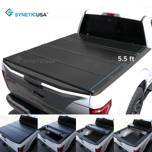 Hard Quad-Fold Tonneau Cover For 2004-2020 Ford F-150 5.5ft Bed Waterproof Aluminum