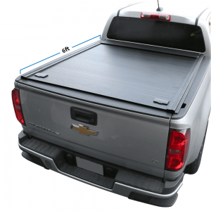 2014-2020 Chevy Colorado 6ft Long Bed Aluminum Retractable Roll-Up Hard Tonneau Cover