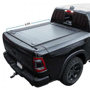 2012-2021 RAM 1500 With Rambox 6.5ft Truck Bed Retractable Aluminum Hard Tonneau Cover
