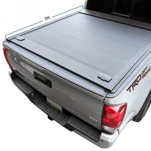 2016-2021 Toyota Tacoma 5ft Short Bed Aluminum Retractable Roll-up Hard Tonneau Cover
