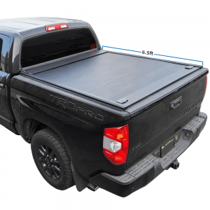 2007-2021 Tundra 6.5ft Bed Aluminum Retractable-Roll-Up Hard Tonneau Cover