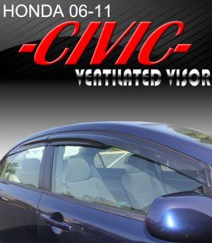 2006-2011 Honda Civic Sedan (4-Door) Mugen Style Vent Visors